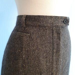 Lauren Ralph Lauren Tweed Wool Pencil Skirt